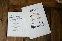 This custom save the date can be printed at home or by a commercial printer for the fraction of the cost of a traditional suite. Want coordinated rehearsal invites, RSVP cards, envelopes, or invitations? For that or custom orders, just message us! How it works: ◊ You select the invitation template you like best, and make your purchase ◊ In the notes section, you provide us with the wording for your save the date, including: − Your name and your person's name! − Time, date, and location −…