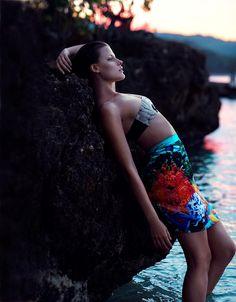Mermaid. Styling. Pose. photography by Chris Nicholls. fashion editor: Elizabeth Cabral.