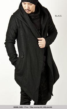 Avant-garde Unbeatable Style Diabolic Hood Cape Coat Vol.2 (Black/Red) - 33 - NewStylish