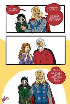 Thor's and Loki's return to Asgard