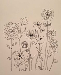 Basic line drawing online course by lisa congdon - creativebug line art flowers, flower line Hand Embroidery Patterns Free, Embroidery Flowers Pattern, Free Machine Embroidery, Embroidery Letters, Flower Pattern Drawing, Geometric Embroidery, Pattern Flower, Embroidery Ideas, Flower Patterns