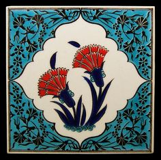 Carnation patterned tiles