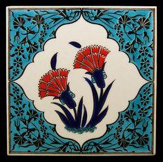 Carnation patterned tiles