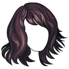 medium layered wavy hairstyle with side swept bangs