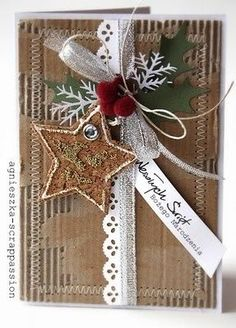 martha stewart branch punch | Very nice Christmas card | Kerst - Christmas
