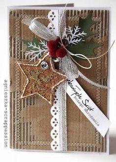 martha stewart branch punch | Very nice Christmas card | Kerst - Christmas