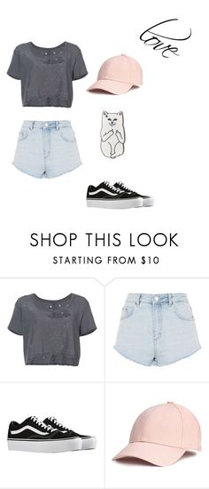 """""""Untitled #46"""" by faith098 ❤ liked on Polyvore featuring Unravel, Topshop, Vans and RIPNDIP"""