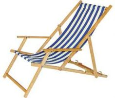 Striped Deckchair With Arms