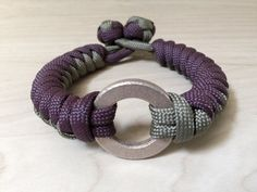Bronze and Paracord Snake Braided Woven Survival Bracelet with Dual Celtic Knot and Loop Closure- Burgundy / Olive Drab Green