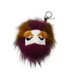 FUR AND CRYSTAL BUGGIES CHARMWhite mink and fuchsia fox fur BUGGIES charm adorned with Swarovski crystal eyes.  Made in Italy