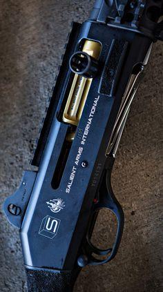 Salient Arms' Benelli M4.