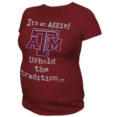 It's an Aggie! Uphold the tradition...