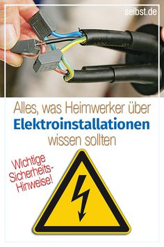 Auch wenn elektrischer Strom gefährlich werden kann: Du musst nicht jedes Mal g… Even if electric current can be dangerous: You do not have to call the electrician every time to change a defective plug >> Electrical Installation, Electrical Wiring, Improve Kidney Function, Big Living Rooms, Diy On A Budget, Plugs, Home Improvement, Tips, Good To Know