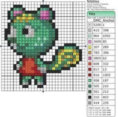 Animal Crossing Nibbles Cross Stitch or Perler Bead Pattern