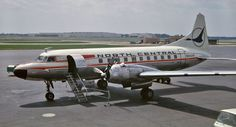 """Here is N8444H Convair 440-42 (327A) of North Central Airlines awaiting my presence at Cleveland - Hopkins -KCLE, Ohio. 0n 27 August 1966. My heart goes where the wild goose goes, well """"Herman"""" anyways! -Stateside 66"""