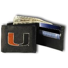 Miami Hurricanes NCAA TriFold Wallet from Rico