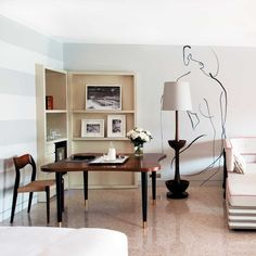 Discover - Chapter Eleven Bookcase, designed by India Mahdavi, as seen here at Monte Carlo Beach Hotel