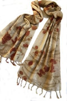 Noil silk and wool, twill weave, delicately soft scarf. luscious leaves of E.cinerea , E. nicolii, E.meliadora, Grevillia robusta, and a fern from the Byron Hinterland subtropical rainforest. Also Casurina. Email me if you would like to buy one like this susan.fellmclean@gmail.com ... #5770 Shibori Techniques, The Byron, Plaid Scarf, Indigo, Textiles, Wool, Silk, Fern, Shawls
