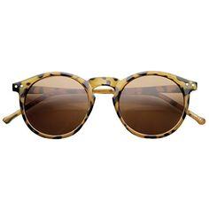 91433c1c571 zeroUV Retro Horned Rim P3 Keyhole Round Horn Rimmed Sunglasses  ShinyTortoise Amber     Read