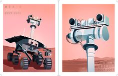 2004 Mars Exploration Rovers on Behance New Scientist, Mars, Explore, Projects, Bedroom Inspiration, Poster, Behance, Nice, Wallpaper