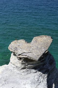 heart-shaped rock - #seriouslyfriendly #nature