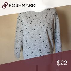 AE star print sweat shirt Very comfy sweatshirt. Only worn a couple times. Excellent condition.  Smoke free home. American Eagle Outfitters Tops Sweatshirts & Hoodies