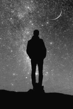 'When I look up at the night sky, many people feel small because they're small and the universe is big, but I feel big; because I know that my atoms came from those stars. Ciel Nocturne, To Infinity And Beyond, Milky Way, Stargazing, Stars And Moon, Night Skies, Urban Art, Moonlight, Beautiful Pictures