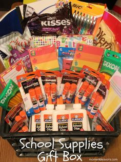 Kindergarten Teacher School Supplies Gift Box #BagItForward