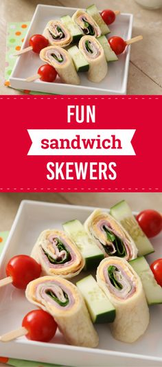 Fun Sandwich Skewers – These sandwich skewers made with KRAFT Cheese Singles, cucumbers, tomatoes, and smoked ham are sure to add some fun to lunchtime. Did we mention that this recipe is ready in just 5 minutes? And, as a part of the Feed Your Family Feed the World campaign, share a picture of this recipe to donate a meal and help support the fight against hunger.