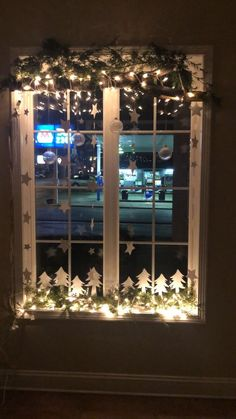 gorgeous 34 Cozy Winter Window Display Ideas On A Budget To Have Christmas Window Display Home, Winter Window Display, Christmas Window Decorations, Christmas Porch, Christmas Night, Christmas Holidays, Christmas Crafts, Holiday Decor, Christmas Windows