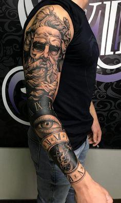 Full Hand Tattoo, Full Arm Tattoos, Best Sleeve Tattoos, Tattoo Sleeve Designs, Arm Tattoos For Guys, Tattoo Designs Men, Leg Tattoos, Body Art Tattoos, Forarm Tattoos