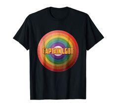 Captain LGBT t-shirt Lgbt T Shirts, Mens Tops