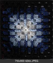 Trebling Granny Square: free pattern