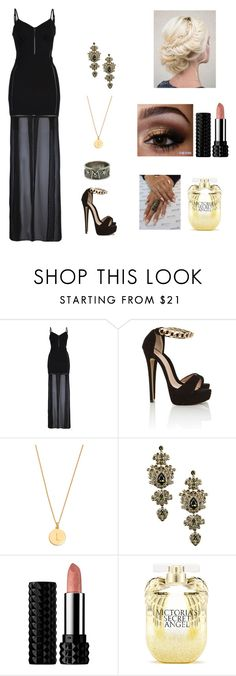 """Immortal Shadow #14"" by jazmine-bowman on Polyvore featuring French Connection, Kate Spade, Givenchy, Kat Von D and Victoria's Secret"