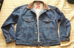 MARLBORO men size L jeans #jacket with genuine leather collar (no tags) visit our ebay store at  http://stores.ebay.com/esquirestore