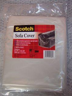 Clear Hard Plastic See Thru Heavy Duty Sofa Cover Living