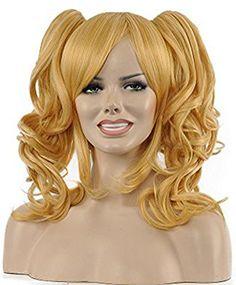 Diy-Wig Stylish Blond Short Curly Two Clips On Ponytails ... https://www.amazon.com/dp/B01BD017BG/ref=cm_sw_r_pi_dp_x_ppMTxb9G86AG6