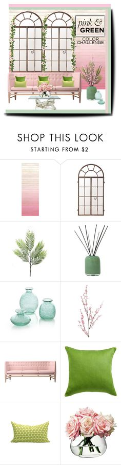 """""""Pink and Green Challenge (Polyvore Contest)"""" by elizamonel ❤ liked on Polyvore featuring interior, interiors, interior design, home, home decor, interior decorating, Alassis, Crate and Barrel, Pier 1 Imports and &Tradition"""