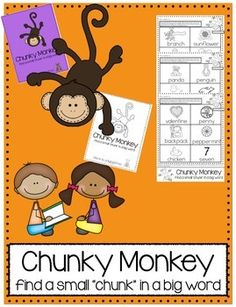 Chunky Monkey Reading Strategy Practice Packet & Emergent Reader!