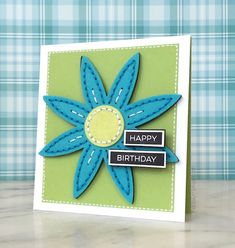 A simple card done beautifully. Like the felt and stitching.
