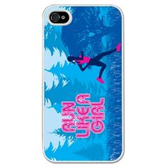 Running iPhone/Galaxy S3 Case Run Like A Girl - This customizable protective case is the perfect accessory for any runner's phone. This great Cell Phone Case fits the iPhone 4, iPhone 4S, iPhone 5 and Samsung Galaxy S3.