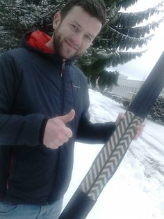 Petr Fiala, after Jizerska 50. He tested skis with skin. More info on FB.