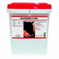 Med-Vet Magnesium 5000 20 lb by Med-Vet Pharmaceuticals. $58.75. Med-Vet MAGNESIUM 5,000 Med-Vet Magnesium 5,000 is recommended to help support normal muscle function and support glucose metabolism. Features: Supports normal muscle function Supports healthy blood Sugar levels (glucose utilization) Easy-to-feed Pellets Item Specifications: GUARANTEED ANALYSIS (PER 2 OZ.): Magnesium, min 5,000 mg Crude Protein, min 7,380 mg Crude Fat, min 3,400 mg Crude Fiber, max 5,680 mg FEE...