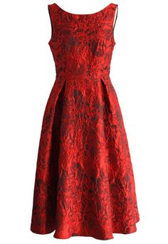 Red Glamour Embossed Prom Dress - New Arrivals - Retro, Indie and Unique Fashion