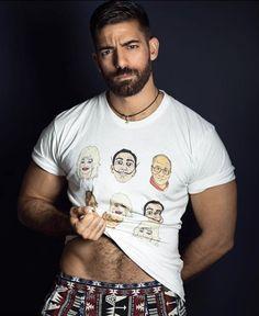 Testosterone Booster, Hairy Men, Beard Styles, Hot Boys, Handsome, Mens Tops, T Shirt, Tumblr, Tattoo