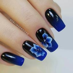 90 Inspirational Blue Nail Art Designs and Ideas Spring 2018