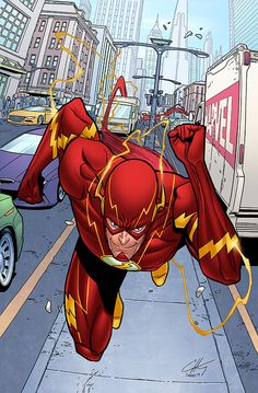 The Flash pencils and inks by Clayton Henry colors by Sean Ellery Flash Comics, Dc Comics Heroes, Arte Dc Comics, Dc Comics Characters, Comic Book Artists, Comic Books Art, Comic Art, Flash Hq, The Flash Art