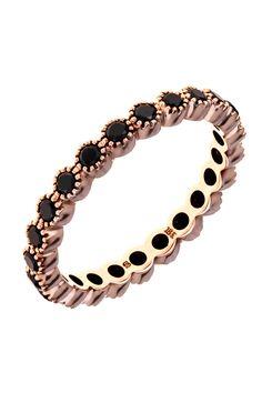 Sethi Couture .70ctw Black Diamond Eternity Band | Oster Jewelers #mydiamondstyle #mybridalstyle