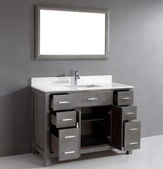 Traditional Bath Vanity Kalize 48 French Gray Finish