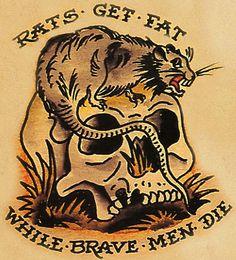 "#SailorJerry #Tattoo ""Rats Get Fat"""